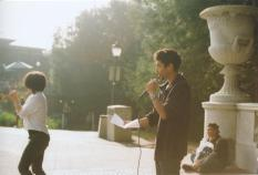 at UC Berkeley, with Lilly Sadaghat (photo by: Jade Cho)